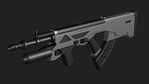 3D Automatic weapon concept free model