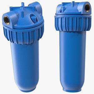 Water Filter Housing Blue 3D model