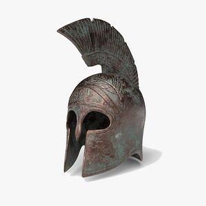 3D helmet athena model
