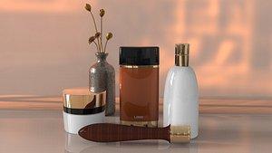 3D Perfume brush cosmetics combination cosmetics storage cosmetics necklace rouge hand cream cosmetics