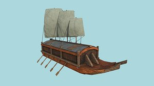3D korean turtle ship - model