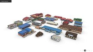 Roadside Cafe And Motels Pack 3D model