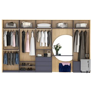 wardrobe clothes dress 3D model