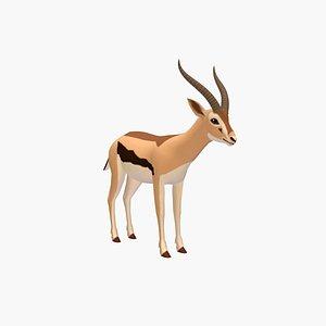 3D Cartoon Deer