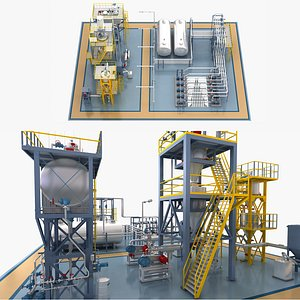 3D industrial factory model