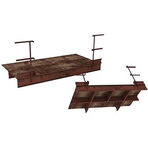 3D Industrial Platforms  Stairs 01 Set PSide 02 01
