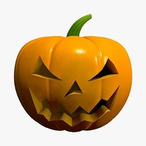3D Jack-o-lantern Halloween pumpkin
