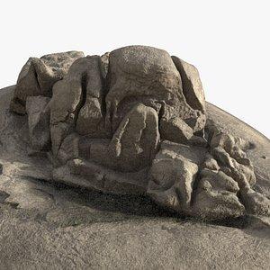 3D rock coast model