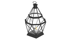 floor lantern black 3D