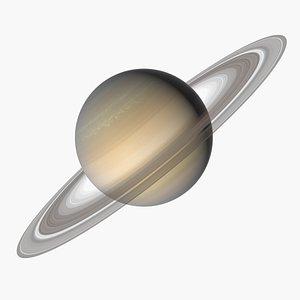 3D model Photorealistic Saturn