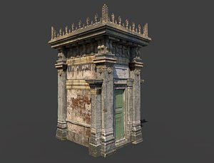 3D model old mausoleum