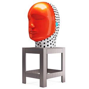 Jun Kaneko Head Sculpture 3D model