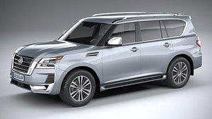 3D Nissan Patrol 2021 model