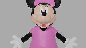 3D Minnie Mouse 3D Model