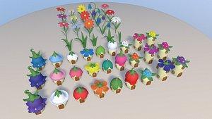 cartoon toon fairy 3D model