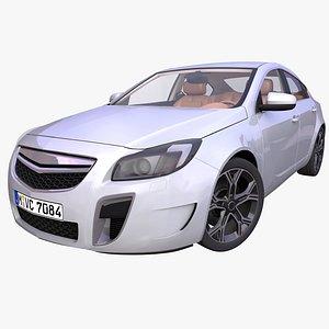 3D generic european sedan interior car
