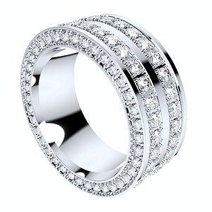 3D ring men women 9 mm