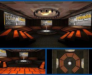 3D model hotel meeting room