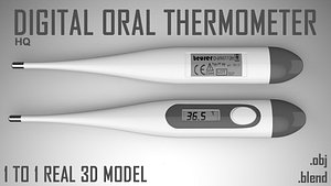 3D Digital Oral Thermometer