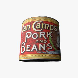 canned pork beans 3D model