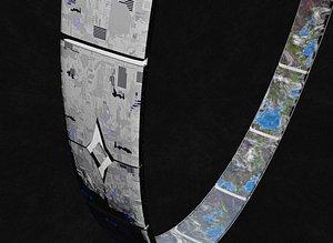 3D rotating space habitat ring v2 model