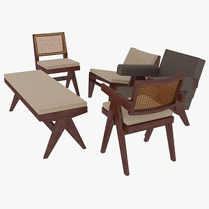 3D cassina cushions mahogany