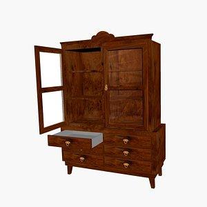 3D vitrine furnishing furniture model
