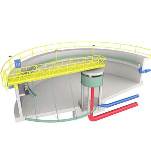 Wastewater Treatment Plant Inside Diagram Low 1 model
