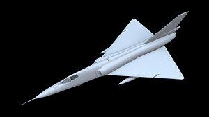 3D convair f-106 delta