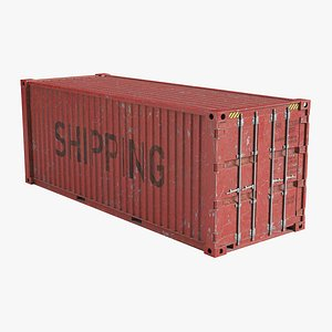 Shipping Container Red 3D