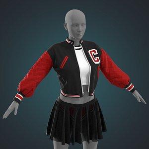 3D Female outfit Marvelous Designer project model
