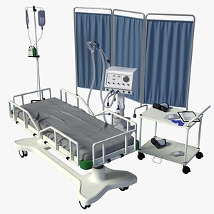 3D medical bed ventilator