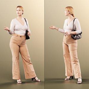 woman bag talking 3D model
