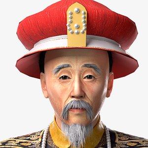 3D model Kangxi emperor of Qing Dynasty