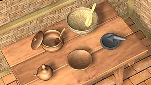 indonesian traditional cookware 3D model
