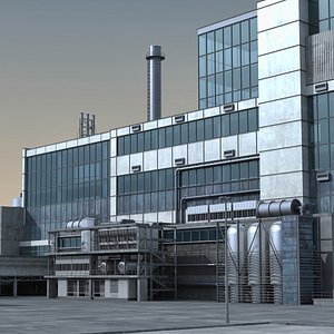3D model industrial scene