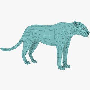 Leopard Low Poly model