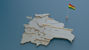 state cities capital 3D