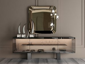 Modern Style Console - 046 3D model