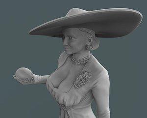 lady dimitrescu printing 3D