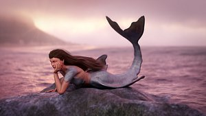 3D mermaid rigging
