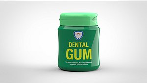 gum bottle 3D model