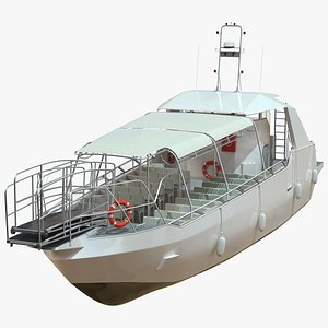3D model Excursion Boat White