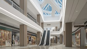 3D Shopping Mall 9 model