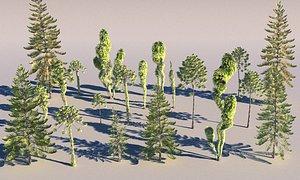 3D model prehistoric plants tree