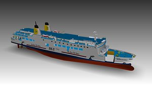 ferry ship 3D model