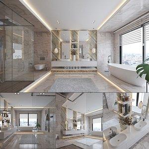 Contemporary Bathroom Interior 3D