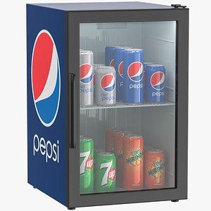 pepsi refrigerator mini 3D model