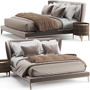 3D Poliform Gentleman Bed model