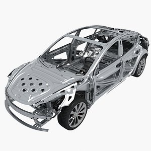 3D tesla 3 chassis
